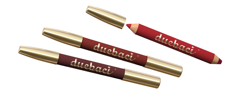 DueBaci natural color gradient Lipliner + Lipstick
