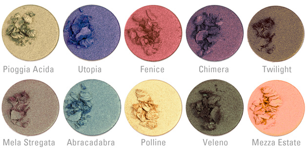 Panoramica cialde palette Duochrome Neve Cosmetics